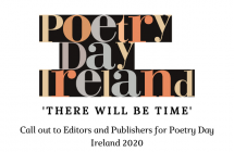Call out to editors and publishers for poems to feature in Poetry Day Ireland 2020 campaign