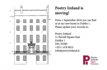Poetry Ireland move to new premises in Dublin's literary quarter.